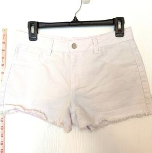 ROUTE 66 GIRLS' SIZE 16 WHITE MID RISE  SHORTS